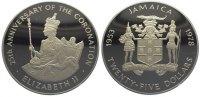 25 Dollars  Jamaika (Jamaica) Elizabeth seit 1952. Polierte Platte  139,00 EUR  +  10,00 EUR shipping
