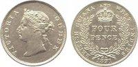Four Pence 1891 Guyana-British Guyana & Westindies Victoria 1837-1901. ... 145,00 EUR  +  10,00 EUR shipping