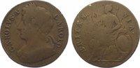 Großbritannien Halfpenny 1673 Schön Charles II. 1660-1685. 65,00 EUR  plus 10,00 EUR verzending