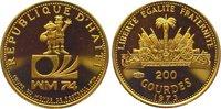 Haiti 200 Guerdes Gold 1973 Polierte Platte Republik nach 1863. 125,00 EUR  plus 10,00 EUR verzending