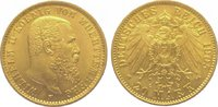 20 Mark Gold 1905  F Württemberg Wilhelm II. 1891-1918. Vorzüglich +  425,00 EUR  +  10,00 EUR shipping