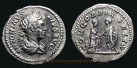 202 AD. Roman Empire Caracalla, Rome mint, Denarius, RIC 124a.  v-  198,00 EUR