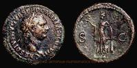 As 80-81 AD. Roman Empire Domitien Caesar, Rome, As, RIC 316. ss  160,00 EUR  + 7,00 EUR frais d'envoi