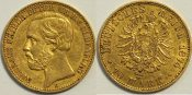 Oldenburg 10 Mark 1874 ss Rand leicht just...