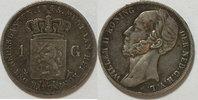 1 Gulden 1845 Niederlande Wilhelm II s  59,00 EUR incl. VAT., +  8,00 EUR shipping