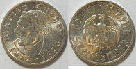 5 Mark 1933 A 3. Reich Luther vz - st  145,00 EUR incl. VAT., +  8,00 EUR shipping