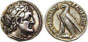 AR Tetradrachm c. 204-145 BC Griechenland Egypte. Ptolomy V Epiphane NGC XF