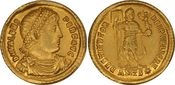 AU Solidus c. 364–378 AD Rome Valens. C, Antioch SS+