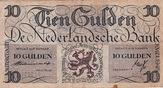 10 Gulden(AV34.1A)(P.74) 1945 Netherlands ...