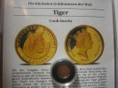Cook Islands 25 Dollars 1990 Proof Tiger 1/25 Unze Gold. Die kleinsten G... 59,00 EUR
