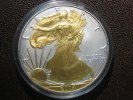 1 Dollar 2004 USA USA Silver Eagle 2004 Gilded BU gilded  49,00 EUR  +  4,95 EUR shipping