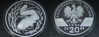 20 Zlotych 1995 Polen Sum Wels Proof  199,00 EUR  +  8,00 EUR shipping