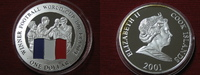 1 Dollar 2001 Cook Islands Fussballweltmeisterschaft Frankreich  Silber... 24,95 EUR  +  4,95 EUR shipping