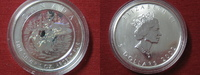 Kanada 5 Dollars Kanada Maple Leaf 2002 Loonie Hologram. 1 Unze Feinsilber