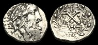 GREECE PELOPONNESOS  GR-FWFB - PELOPONNESOS - The Achaian League, Elis AR Hemidrachm, c45-30BC.