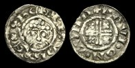 ENGLISH HAMMERED  SX-KFQW - HENRY II - Short-X Penny Cl.1c, ca.1185-89AD.