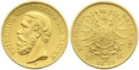 Baden 20 Mark  Gold Friedrich I. 1856-1907.
