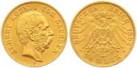Sachsen 20 Mark  Gold Albert 1873-1902.