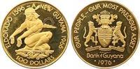 100 Dollars Gold 1976 Guyana  Polierte Platte  225,00 EUR  +  7,00 EUR shipping