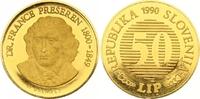 50 Lip Gold 1990 Jugoslawien-Slowenien  Winzige Kratzer, Polierte Platte  475,00 EUR  +  7,00 EUR shipping
