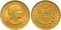 Libra Gold 1917 Peru Republik seit 1821. Vorzüglich  365,00 EUR  +  7,00 EUR shipping