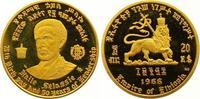 20 Dollars Gold 1966 Äthiopien Haile Selassi I. 1930-1936, 1941-1974. P... 325,00 EUR  +  7,00 EUR shipping