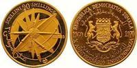 20 Shillings Gold 1970 Somalia Republik. Ab 1950. Polierte Platte  120,00 EUR  +  7,00 EUR shipping