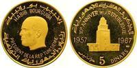 5 Dinars Gold 1967 Tunesien Republik seit 1957. Polierte Platte  390,00 EUR  +  7,00 EUR shipping