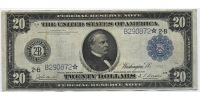 USA 20 Dollars 1914 Fine - Very Fine Large...