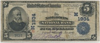 USA 5 Dollars Nur 2 Ex. bekannt: Large National Bank Note, The Nokomis National Bank, Illinois