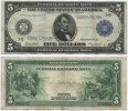 USA 5 Dollars 1914 Fine - Very Fine Large ...