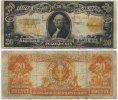 USA 20 Dollars 1922 Fine Large Gold Certif...