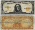USA 10 Dollars 1922 Fine Large Gold Certif...