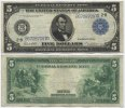 USA 5 Dollars 1914 Very Fine Large Federal...