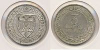 Weimarer Republik 3 Reichsmark 1926 A ss L...