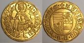 AV Goldgulden 1455-1456 Ungarn / Hungary Ladislaus V. 1453-1457 Prachtexemplar