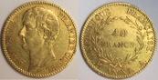40 Francs An XI A France / Frankreich Napoleon I - Premier Consul gutes sehr schön