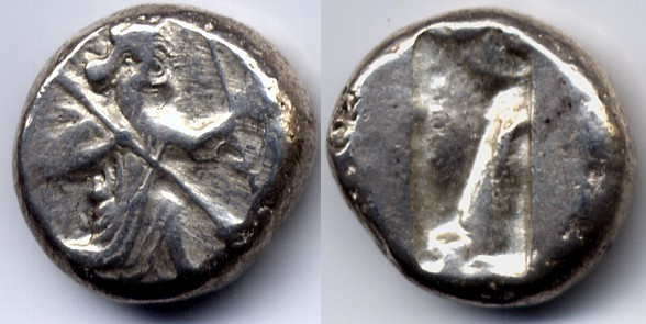Persien / Persia Achaemenid empire, time of Xerxes II to Artaxerxes II Siglos 420-375 BC near Extremely Fine  /  aEF