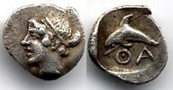 Hemiobol 412-404 BC Thrace / Thrakien Thasos good Very Fine  450,00 EUR  +  12,00 EUR shipping