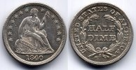 USA Half dime With drapery