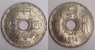 25 centimes 1914 Frankreich / France Essai de Becker fast Stgl  160,00 EUR  plus 10,00 EUR verzending