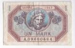 "1 Mark 1947 Saarland Saarmark-Noten, ""un Mark 1947"" II-III  69,00 EUR  +  6,90 EUR shipping"