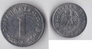 BRD - Alliierte Besetzung BDL 1 Reichspfennig Kursmünze Zink Bank Deutscher Länder