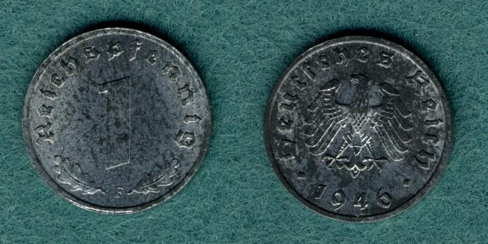 1 Pfennig 1946 F Allierte Besetzung J.373b vz/stgl.