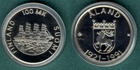 100 Markkaa 1991 Finnland Aland stgl.  22,00 EUR
