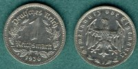 III. Reich 1 Reichsmark 1936 J ss/vz J. 354