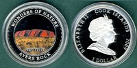1 Dollar 2009 Cook Islands Wunder der Natur - Ayers Rock PP  12,90 EUR  +  5,90 EUR shipping