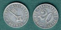 20 Bremer Verrechnungs-Pfennig 1924 Bremen Notmünze ss/vz  22,50 EUR