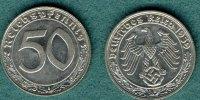 50 Reichspfennig 1939 B III. Reich J.365 vz  49,00 EUR  +  5,90 EUR shipping