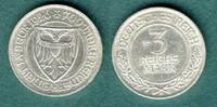 3 Reichsmark 1926 A Weimarer Republik Lübeck vz  109,00 EUR